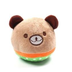 Pipleksak björn- RUND Brun