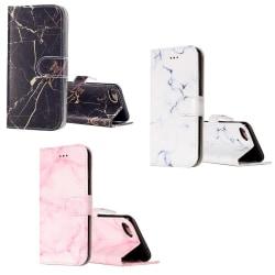 Plånbok i marmor mönster för iPhone 8 Vit