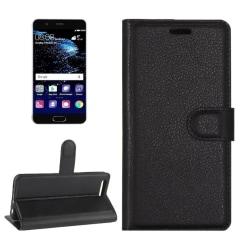 Plånbok  med 3 kortfack- Huawei P10 Svart