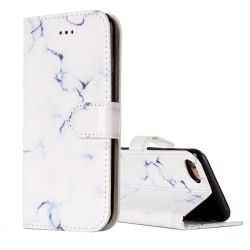 Plånbok med marmor-mönster till iPhone 7 Vit