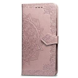 Plånbok med mönster för iPhone Xs MAX Rosa