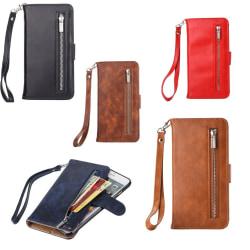Plånbok med ytterfack & magnetskal till iPhone 7 Svart