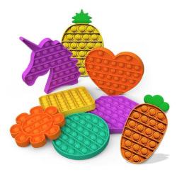 Pop it- Fidget Toy / Fidget Leksak- Flera färger och modeller Purple Hjärta- Lila