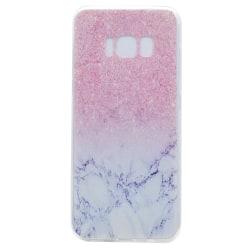 Rosa glitter Marmorskal för Samsung Galaxy S8 plus multifärg