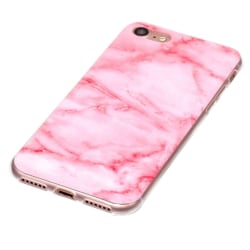 Rosa marmor- skal för iPhone 8 multifärg
