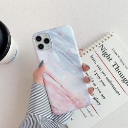 Rosa/vitt Marmor skal- iPhone 12 / 12 PRO  Vit