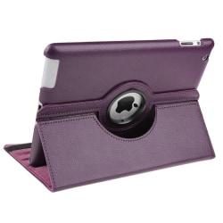 Roterbart läderfodral till Apple iPad 2/3/4 Lila