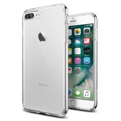 Skal i transparent gummi för iPhone 7 Plus Transparent