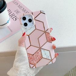 Skal med mönster- iPhone 12 PRO MAX  Pink