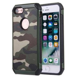 Stöttåligt Kamouflage Skal för iPhone 8 multifärg