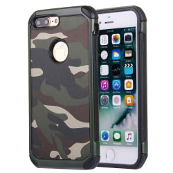 Stöttåligt Skal I camofluage för iPhone 8 Plus Grön