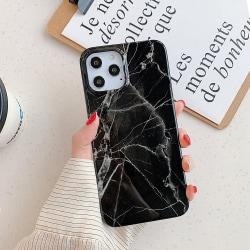 Svart Marmor skal- iPhone 12 / 12 PRO  Svart