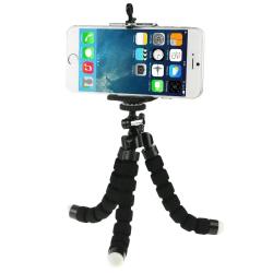 Tripod Bubble - Flexibel hållare för kamera och mobil Svart