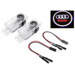Audi Laser logga led till dörr A1 A3 A4 A5 A6 A7 A8 Q3 Q5 Q7 TT