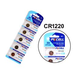 CR1220 5-pack Lithium batterier CR 1220 3V batteri