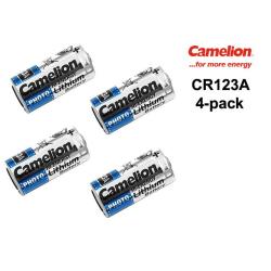 CR123A 4-pack Lithium batteri CR 123A 3V Camelion batteri LR123
