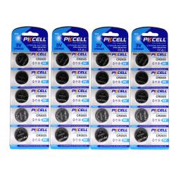 CR2025 20-pack Lithium batterier CR 2025 3V PKCell batteri