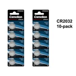CR2032 10-pack Lithium batterier Camelion CR 2032 3V batteri