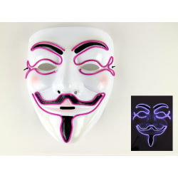 Mask Happy face med Glowstrip Lila glowstrip