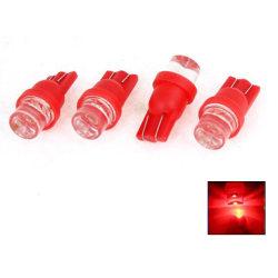 T10 w5w 4-pack Led lampor med 1st Flux-led chip 12v DC   Röda 4-pack