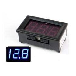 Voltmätare 4-30v DC Digital för bil båt husvagn husbil mc  Blå
