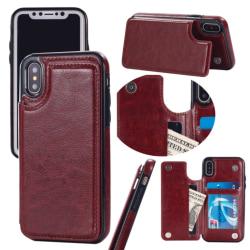Back Card Case - iPhone 7/8+ Brun