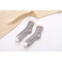 Coral Velvet Sock  grå