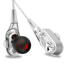 Dual Drive Earphone Silver