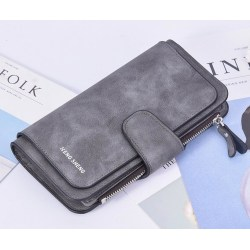 Hengsheng Leather Wallet grå