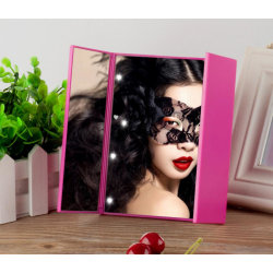 LED Folding Mirror Rosa