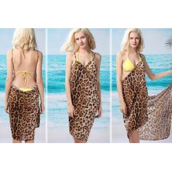 Leopard Wrap Dress  multifärg