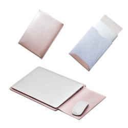 "MacBook Leather Case-15,4"" Rosa"