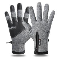 Warm Telefinger Glove - Grey Grey M