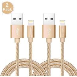 2 st 2 m guld  iphone kabel top kvalitet