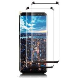 2 st hög kvalitet härdat glas för Samsung s8 plus