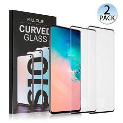 2 st super kvalite heltäckande  härdat glas för Samsung s10 plus