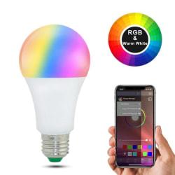 20 lägen Dimbar E27 RGB LED Smart-lampa