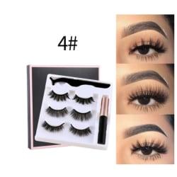 3 par Magnet  ögonfransar#4