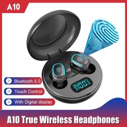 A10 trådlösa hörlurar med Bluetooth 5.0 svart