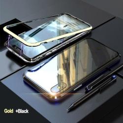 Dubbelsidig magnet fodral med härdat glas för Samsung S9 plus