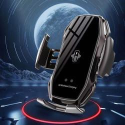FLOVEME Qi Snabb trådlös mobilladdare med bilmonterad |svart svart