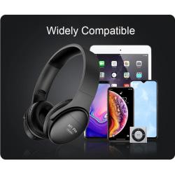 H1 Pro Bluetooth 5.0 HIF hörlurar med mikrofon svart svart