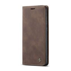 Hög kvalitet plånbok Läderfodral  för iphone 12 pro|brun brun