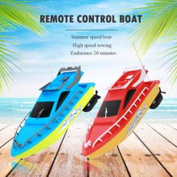 Mini fjärrkontroll båt höghastighets båt röd röd