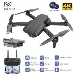 NYR Pro2 RC Mini Drone 4K Dualkamera svart svart