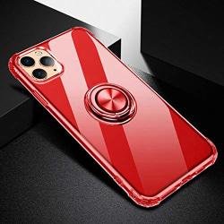tunn fodral med ring för iphone 12 pro max|röd röd