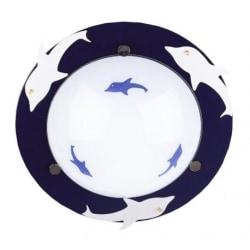 Plafond med delfinmotivx2