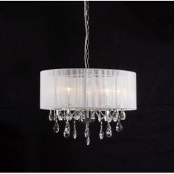 Taklampa med kristaller