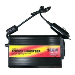 180W Växelriktare, modifierad sinusvåg, 220-230V, svart
