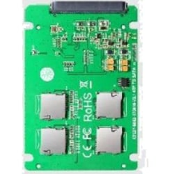 4x Micro SD-kort till SATA-expansionskort, RAID 0-stöd, 22pin SA